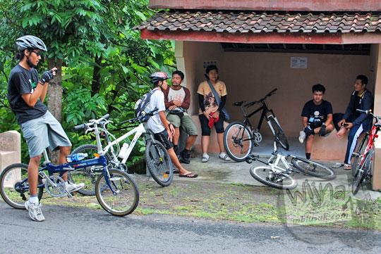 Jalur rute sepeda santai dari Jogja menuju Curug Payaman dan Gua Payaman di Desa Argorejo, Sedayu, Bantul pada tahun 2011