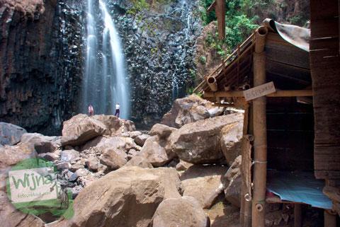 Warung yang disewakan kepada pengunjung di kawasan Air Terjun Takapala, di Malino, Tinggimoncong, Gowa, Sulawesi Selatan