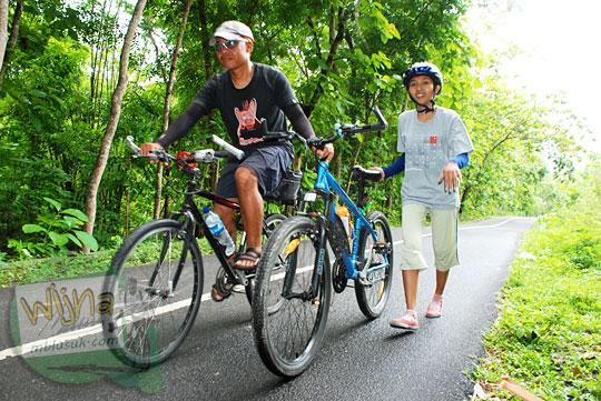 Rute bersepeda ke Sendang Ngembel Pajangan Bantul dari Kota Jogja melewati tanjakan terjal pada tahun 2011