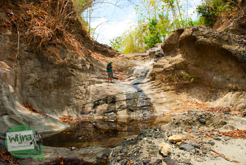 air terjun kecil yang ada di pelosok gunungkidul, yogyakarta
