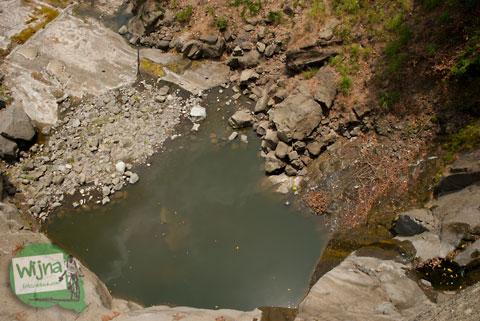 kubangan air dari puncak curug gedhe patuk, gunungkidul