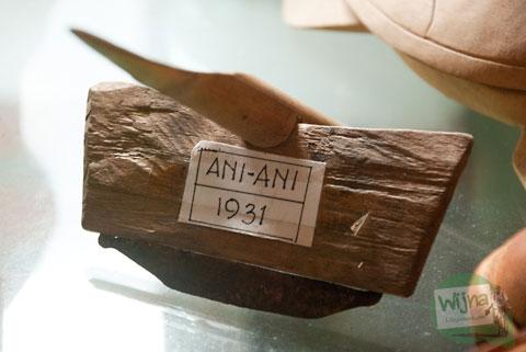 Wujud alat tani bernama ani-ani yang disimpan di Desa Wisata Candran, Kebonagung, Imogiri, Bantul