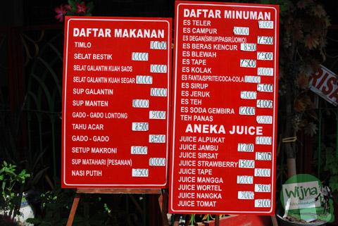 Daftar harga dan menu Selat Solo Mbak Lies Serengan Solo murah diskon