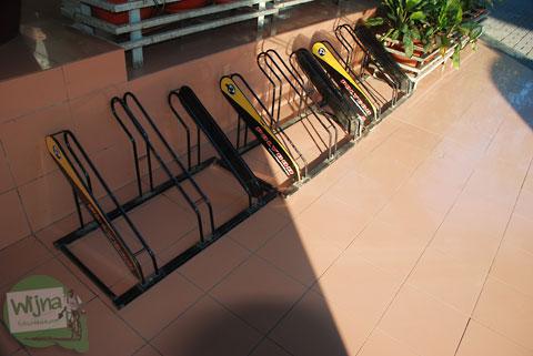 Parkir sepeda di Mall Ratu Indah Makassar