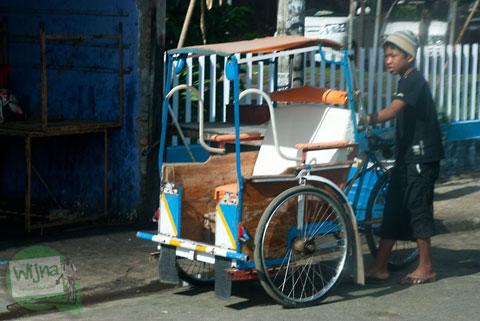 Becak di Makassar