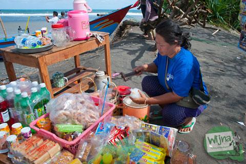foto wanita-wanita muda dan cantik yang menjajakan seks di sekitar pantai Samas, Srandakan, Bantul, Yogyakarta
