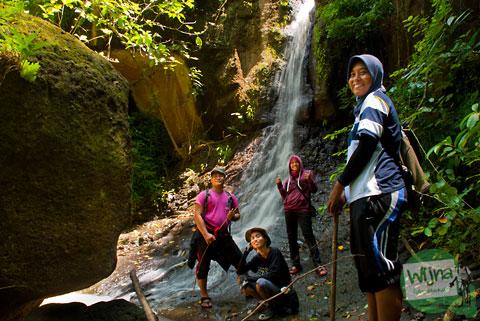lokasi air terjun (tritis) di cepit, bokoharjo, prambanan, sleman, yogyakarta
