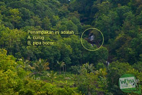 curug kedung miri yang punya nama lain air terjun kedung miri di Selopamioro, Bantul, DI Yogyakarta