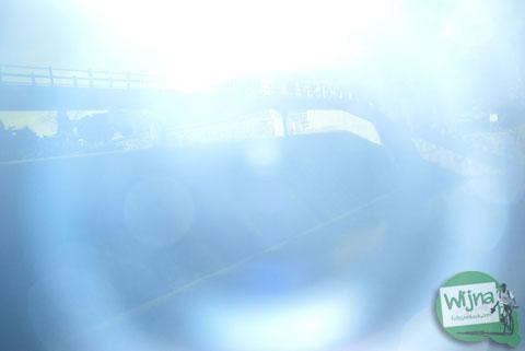 Hasil eksperimen foto filter ND dengan kaca las ketika ada rongga celah cahaya