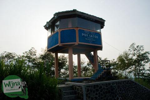 Pos satu pengamatan Gunung Merapi di Cangkringan, Sleman