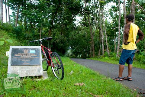 titik puncak tertinggi jalur alternatif Tanjakan Petir yang menghubungkan dusun Umbulsari Piyungan Bantul dengan dusun Petir ngoro-oro gunungkidul