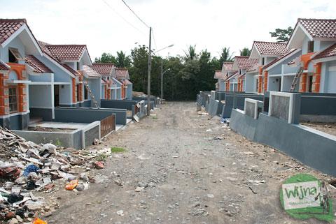 suasana cluster perumahan tipe 36 murah di Yogyakarta daerah di sekitar Bantul