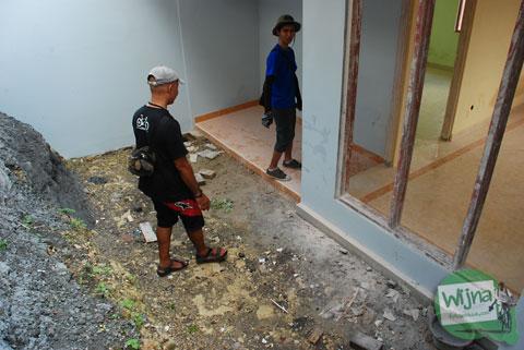 suasana halaman rumah murah sederhana di jogja cicilan ringan dekat malioboro di Bantul Yogyakarta