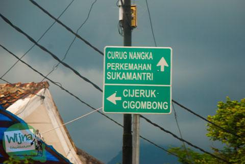 Rute dan panduan petunjuk arah ke lokasi Curug Nangka