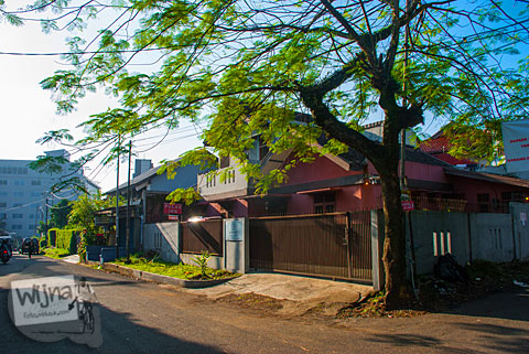 Lokasi penginapan murah dan berkualitas Pulas Inn di Kota Bandung