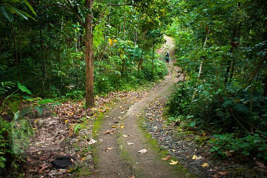 Kondisi jalan rusak di pedalaman Jawa yang jauh dari perhatian pemerintah setempat