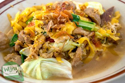 Penampilan sajian khas kuliner Bakmi Nyemek Bu Seto, Kemrajen, Banyumas