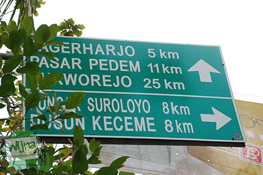 Kedung Gulo Purworejo dari arah Pagerharjo, Samigaluh