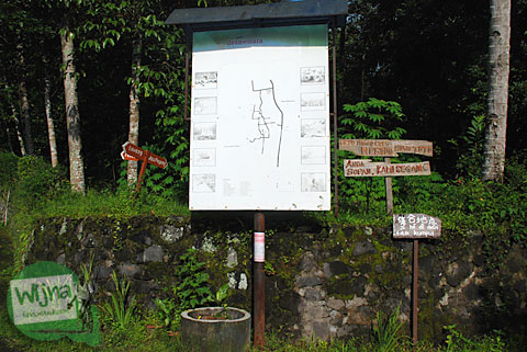peta desa wisata pentingsari di umbulharjo, cangkringan, sleman sudah tidak bisa terbaca lagi