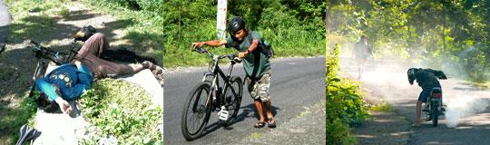 Bersepeda ke Curug Banyunibo Sanggarahan, Dlingo, Bantul lewat Cinomati