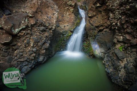 Keindahan curug air terjun banyu semurup mistis yang ada di lokasi Desa Wisata Jurug Taman Sari, Semoyo, Patuk, Gunungkidul