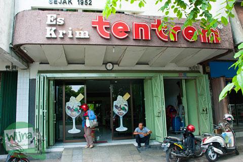 Lokasi Kafe Es Krim Tentrem khas kota Solo, Surakarta, Jawa Tengah dari tahun 1952