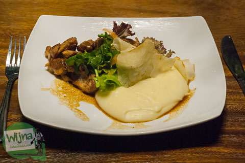menu abhayagiri chicken steak ala restoran Abhayagiri Sumberwatu Heritage, Prambanan, Yogyakarta
