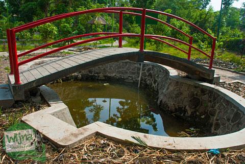 Mata Air Kali Gajah Wong bernama Telapak Tirto yanga da di Taman Gajah Wong Park, Umbulharjo, Yogyakarta