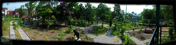 Suatu pagi di Taman Gajah Wong Park, Umbulharjo, Yogyakarta