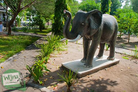 Patung gajah yang ada di Taman Gajah Wong Park, Umbulharjo, Yogyakarta