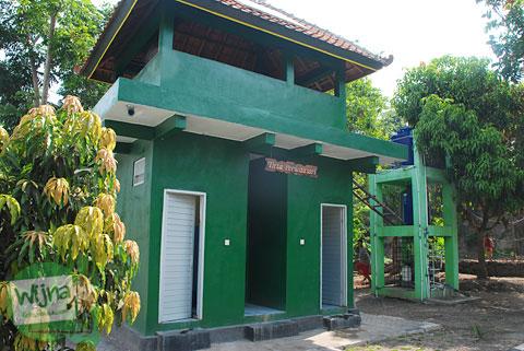 Fasilitas toilet wc umum di Taman Gajah Wong Park, Umbulharjo, Yogyakarta