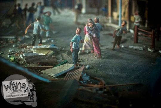 Banyak warga Aceh yang bingung saat terjadi bencana Tsunami Aceh
