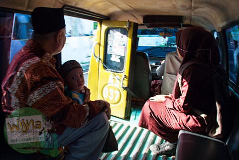 Rute angkot, bus kota, dan angkutan umum di kota Bengkulu
