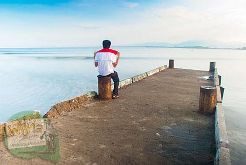 Foto dermaga pelabuhan di Bengkulu