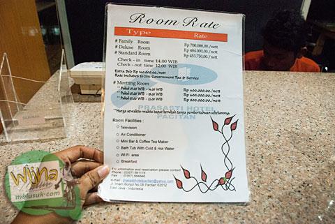 Tarif harga kamar di Hotel Prasasti yang Paling Bagus se-Pacitan, Jawa Timur