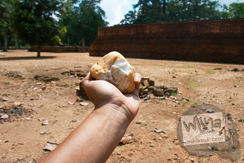 Batu Kerakal Candi Kedaton di Muaro Jambi