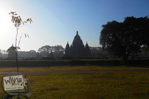 foto candi Sewu di Prambanan saat pagi