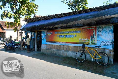 warung sop ayam pecok satriyan pak kebo dekat kantor desa ngrundul kebonarum