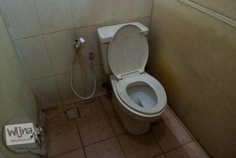 kloset toilet bebek di wc umum alun-alun kota batu yang bentuknya buah apel besar