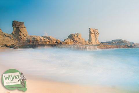 Lokasi fotogenik di Pantai Klayar Pacitan tahun 2015
