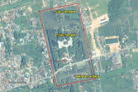 Denah Taman Purbakala Kerajaan Sriwijaya di Masa Lampau
