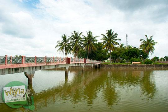 Penampakan Pulau Cempaka tempat pemukiman warga Sriwijaya di zaman dulu