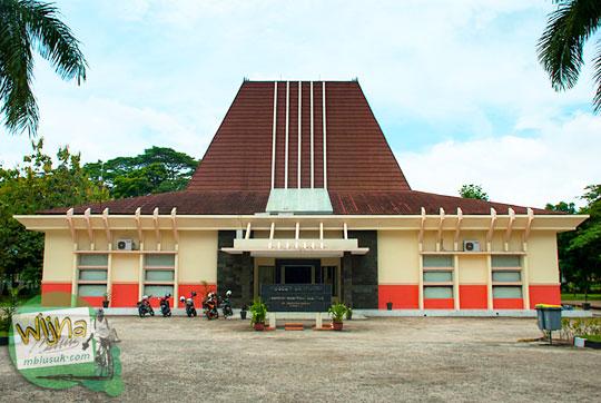 Tampak luar bangunan Museum Purbakala Kerajaan Sriwijaya Palembang