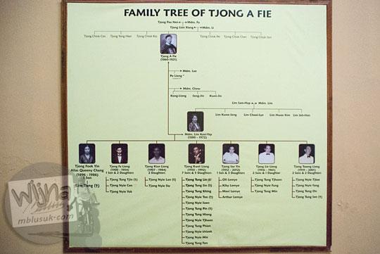Silsilah keluarga family tree Tjong A Fie, Medan pada September 2014