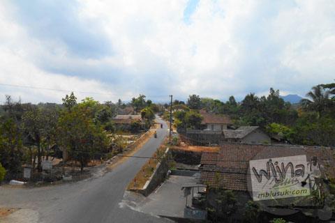 Pemandangan Merapi dari desa wisata Tunggul Arum, Turi, Sleman di tahun 2015