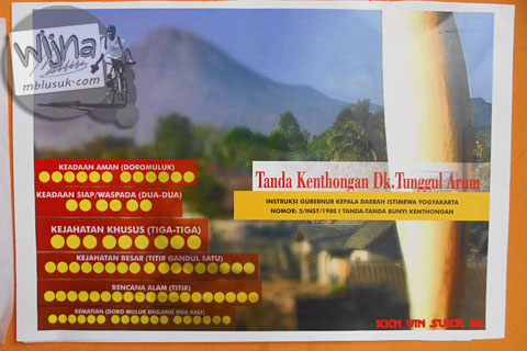 Panduan kenthongan desa wisata Tunggul Arum, Turi, Sleman di tahun 2015