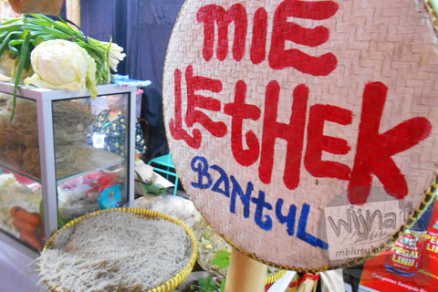 Gerai Mie Lethek di Festival Djadjanan Kekoenoan 2015 di Jogja Expo Center