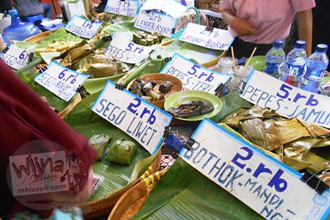 Gerai Nasi Liwet di Festival Djadjanan Kekoenoan 2015 di Jogja Expo Center