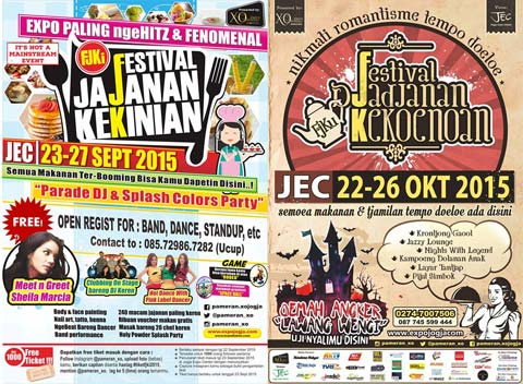 Poster Festival Djadjanan Kekoenoan 2015 di Jogja Expo Center