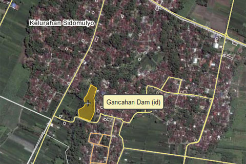 peta menuju Embung Donomulyo Asri di Godean, Sleman, Yogyakarta